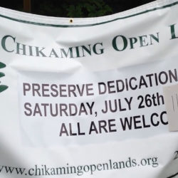 Chikaming Open Lands - The Woods Preserve Dedication 7-26-14